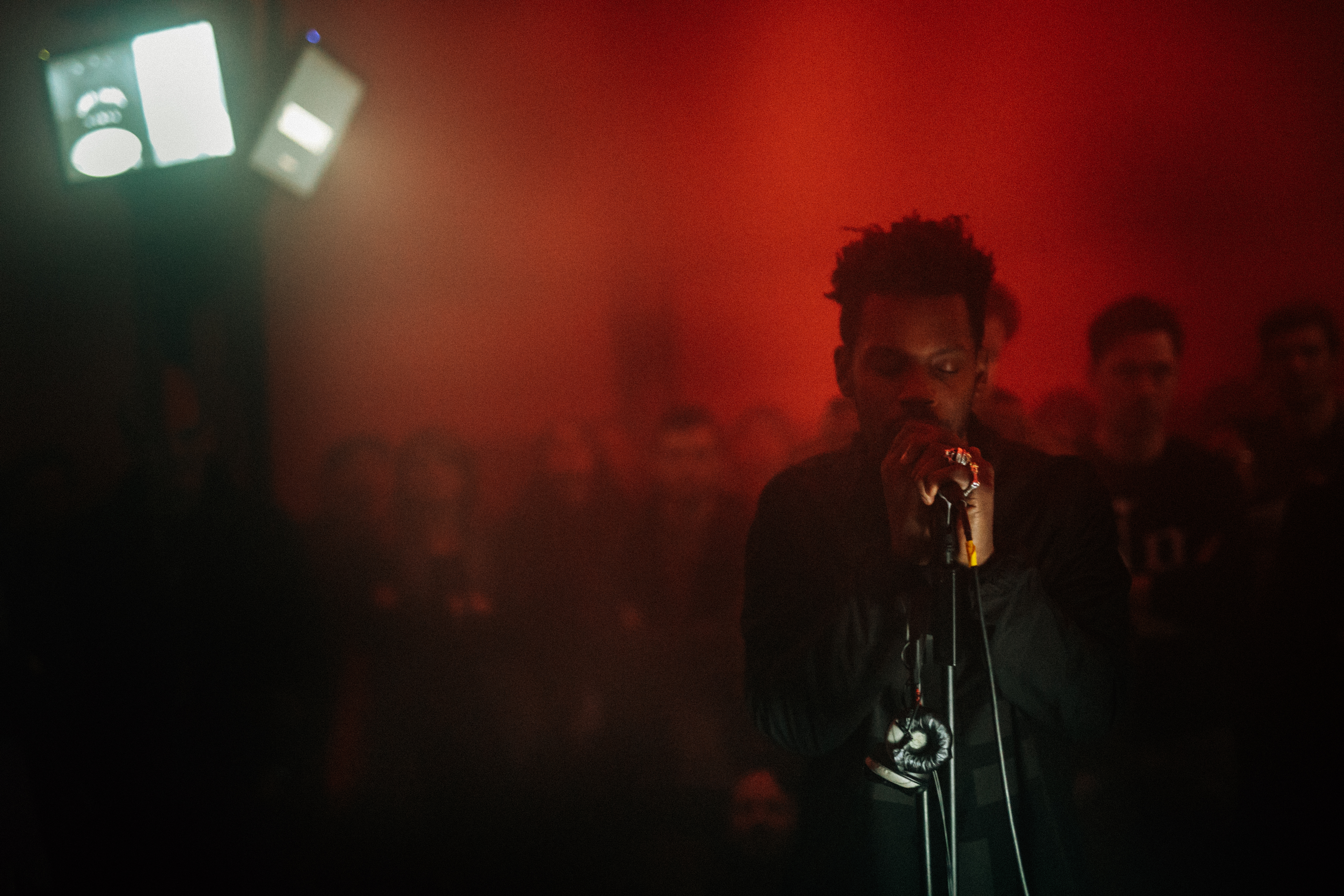 Gaika being impressing at MONOM; by Becca Crawford.